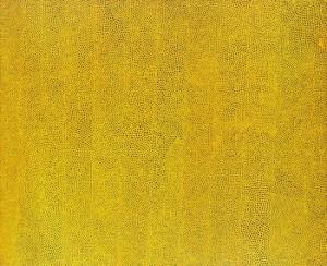 草間彌生 無限の網 Infinity Nets Yellow