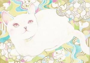 猫 絵画 雑貨
