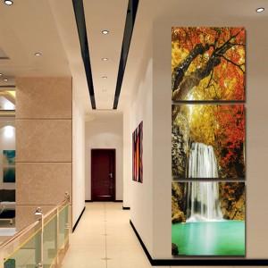 風光明媚な滝プリント画像絵画と装飾印刷ホームインテリア油絵リビングルームの入り口廊下非フレー