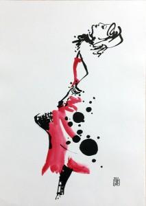 インテリア アート 赤 モダン