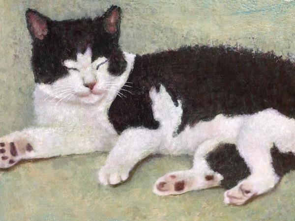 猫 インテリア アート 絵