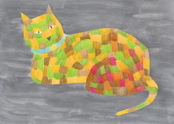 猫 絵 アート インテリア