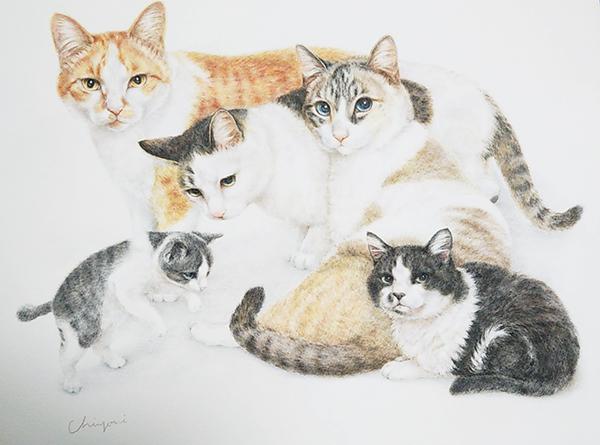 猫のオーダーメイド絵画