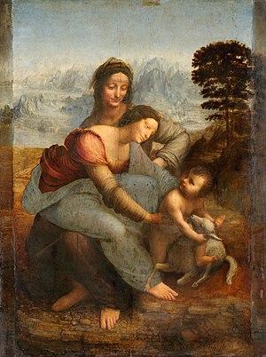 300px-Leonardo_da_Vinci_-_Virgin_and_Child_with_St_Anne_C2RMF_retouched