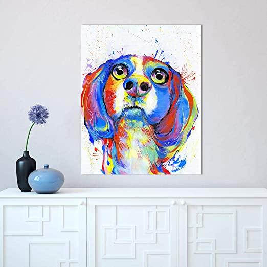 犬のオーダーメイド絵画