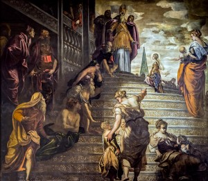 Madonna dell'Orto (Venice) - Presentation at the temple of the Virgin (1552-1553) by Tintoretto