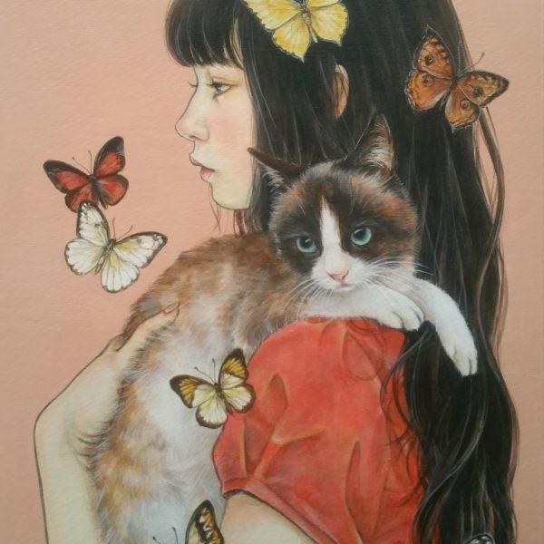 猫 絵画 インテリア