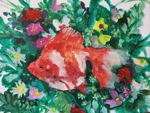 「金魚×花」