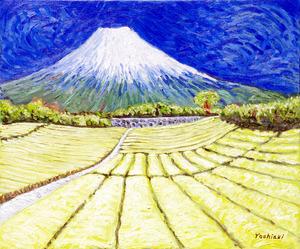「富士と茶畑」