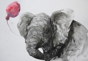 「赤い風船のゾウの仔」