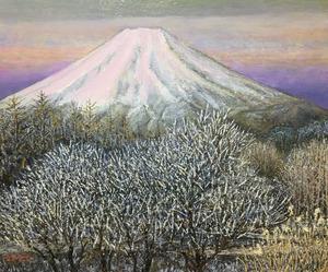 「富士のあけぼの 忍野」
