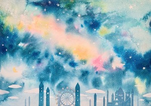 「オーロラの夜空」