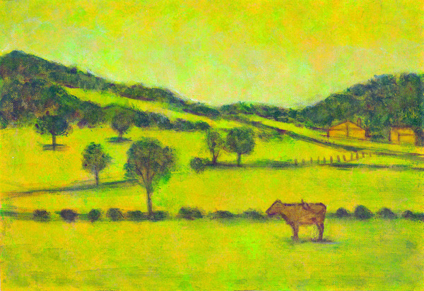 「丘の牧場」