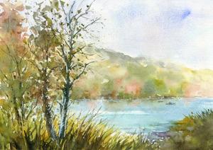 「秋の湖畔5」