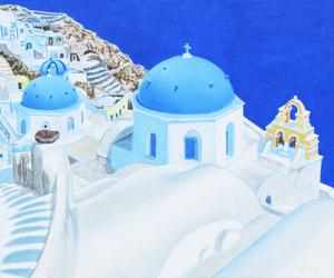 「サントリニ島の風景」