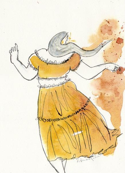 「黄色いスカートの女」