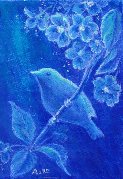 「葉桜と鳥」