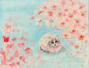 「桜の下で」