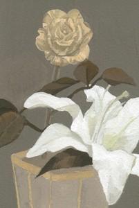 「おしゃれな花のポストカード」
