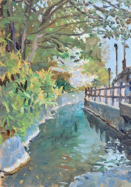 「春の水路」