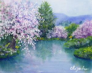 「水辺の桜」