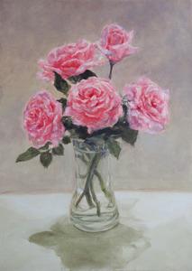 「Roses in a vase」
