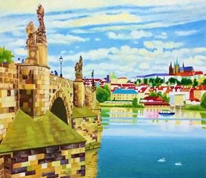 「プラハ風景」