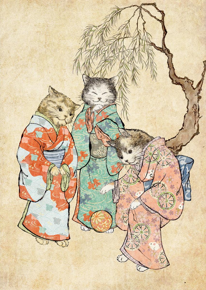 「猫の姉妹」
