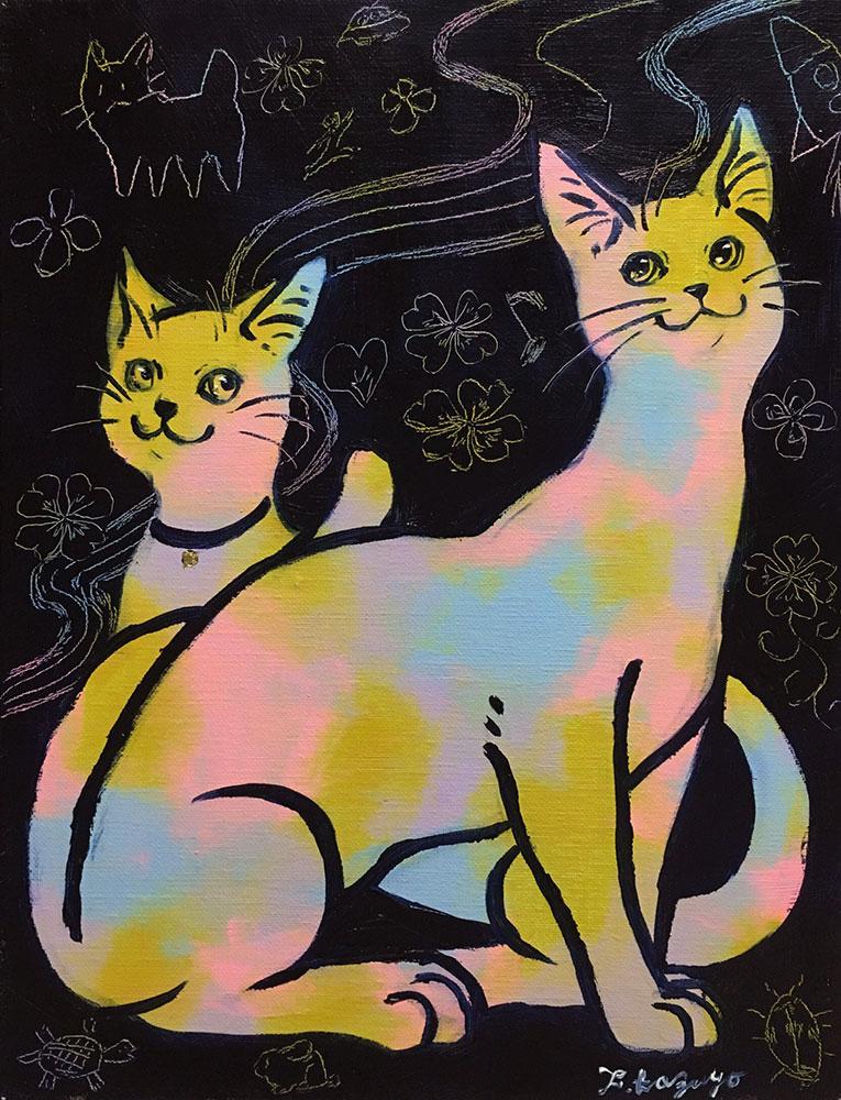 「レインボー猫」