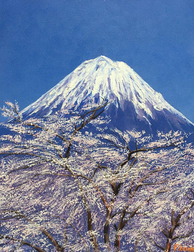 「桜と富士山」