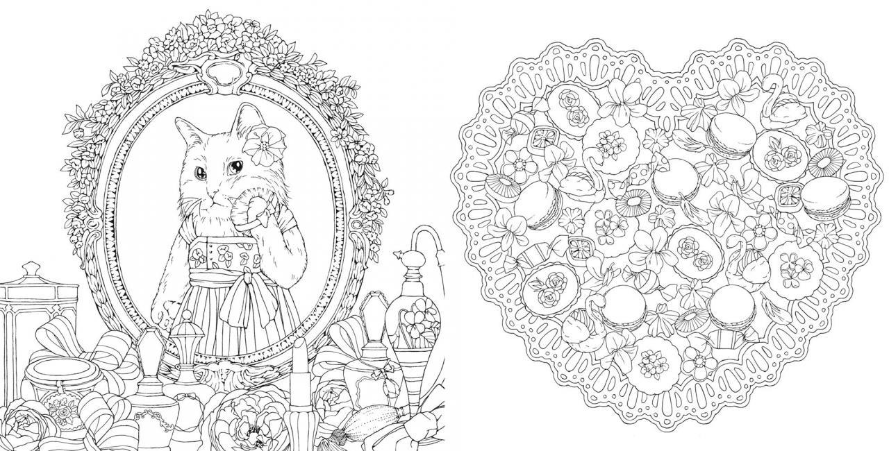 幸せのメヌエット~美しい花々とかわいい動物たちのぬりえ~
