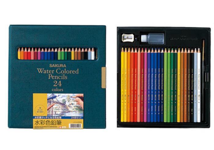サクラ水彩色鉛筆24色