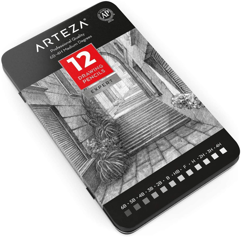 ARTEZA「プロフェッショナルデッサン用鉛筆12本セット」