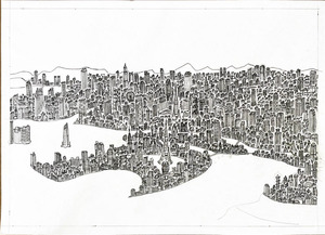「モノクロの大都会」