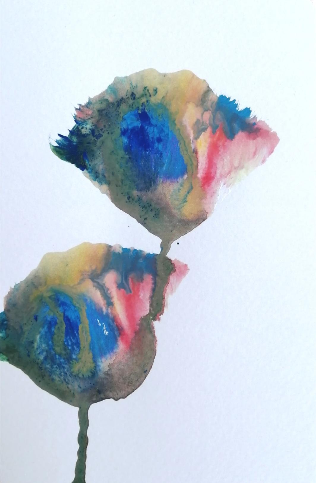 「Iridescent flowers」
