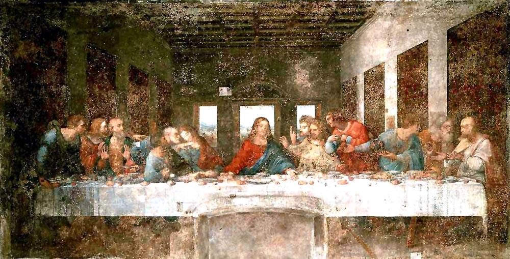 修復前の最後の晩餐